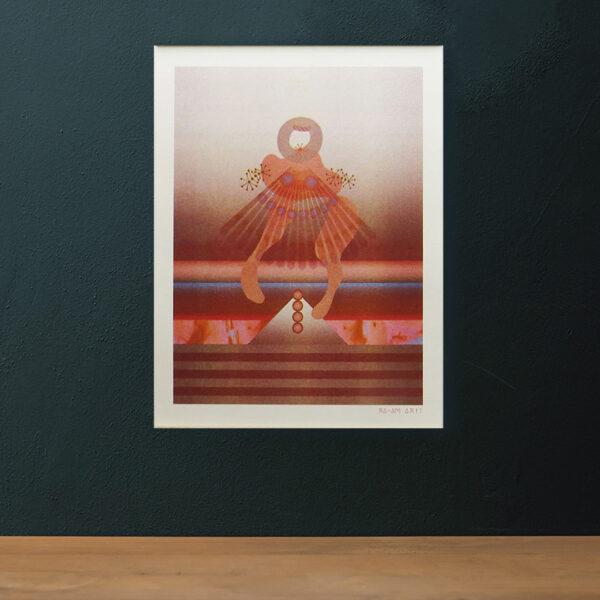 A3 Risographie Artprint | Motiv Dancer