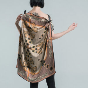 Seidenfoulard | FLY HIGH | col. soft mandarin
