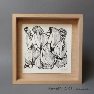 Original Zeichnung No.2 | mit Holzrahmen | 20x20cm