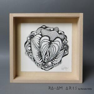 Original Zeichnung No.4 | mit Holzrahmen | 20x20cm