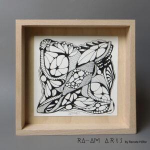 Original Zeichnung No.6 | mit Holzrahmen | 20x20cm