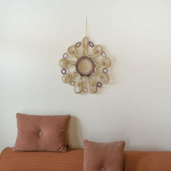RA-AM-ARTS Wandbehang Unikat Motiv Bloom