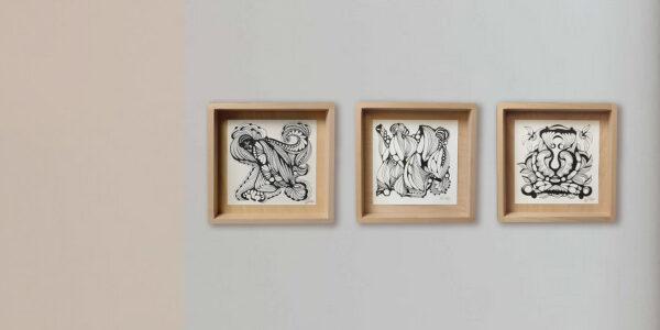 Moderne Kunst RA-AM ARTS Handzeichnungen