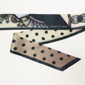 Seidenschal | SMART NECKTIE | Motiv Space Lace